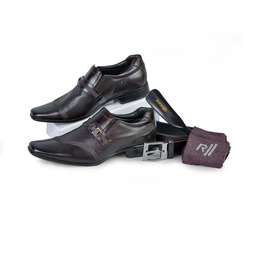 Sapato Social Rafarillo Kit 4 Em 1 Costuras Diferenciadas