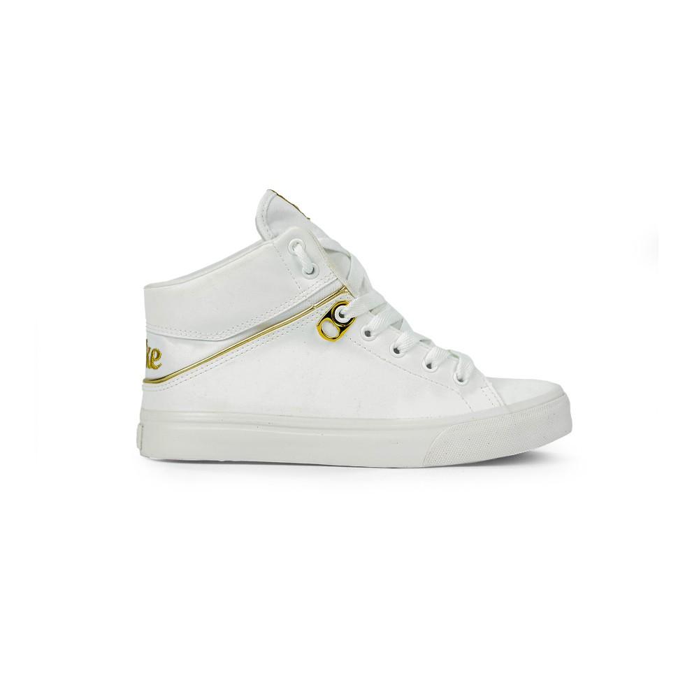 Tênis Feminino Coca Cola Shoes Branco Alfa Botinha