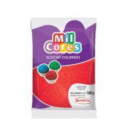 Açúcar Mil Cores Vermelho 500g Mavalério