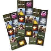 Adesivo Quadrado Free Fire c/30 unid Festcolor