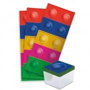 Adesivo Quadrado Pop It c/30 unid Festcolor
