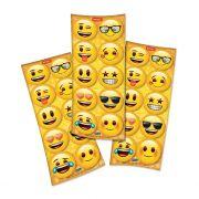 Adesivo Redondo  Emoji C 30 unid Festcolor
