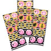 Adesivo Redondo Flamingo C 30 unid Festcolor