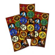 Adesivo Redondo Harry Potter C 30 unid Festcolor