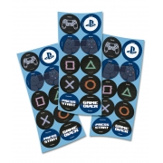 Adesivo Redondo Playstation c/30 unid Festcolor