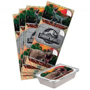 Adesivo Retangular Jurassic World C 12 unid Festcolor