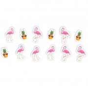 Aplique Impresso Flamingo C 12 unid Piffer