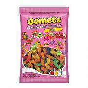 Bala de Goma Gomets Minhocas de Frutas 700g Dori