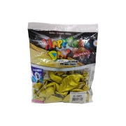 Balão Alumínio Amarelo Mostarda N9 25 unid Happy Day