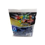 Balão Alumínio Azul Meia Noite N9 25 unid Happy Day