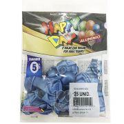 Balão Alumínio Azul N05 25 unid Happy Day