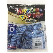 Balão Alumínio Azul  N9 25 unid Happy Day