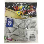 Balão Alumínio Gelo  N9 25 unid Happy Day
