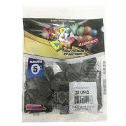 Balão Alumínio Onix N5 25 unid Happy Day