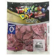 Balão Alumínio Pink N9 25 unid Happy Day