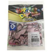 Balão Alumínio Rose N5 25 unid Happy Day