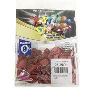 Balão Alumínio Vermelho N9 25 unid Happy Day