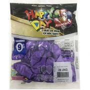 Balão Alumínio Violeta N9 25 unid Happy Day
