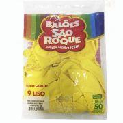 Balão Amarelo Citrino N09 50 unid São Roque
