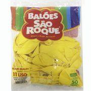 Balão Amarelo Citrino N11 50 unid São Roque