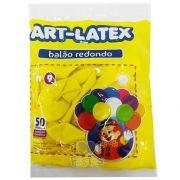 Balão Amarelo N09 50 unid Art Latex