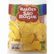Balão Amarelo Sol N07 50 unid São Roque
