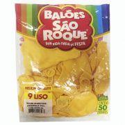 Balão Amarelo Sol N09 50 unid São Roque
