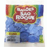 Balão Azul Bebê N05 50 unid São Roque