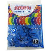 Balão Azul Celeste N09  50 unid. Amalu
