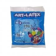 Balão Azul Claro N08 50 Unid Art Latex