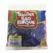 Balão Azul Cobalto N05 50 unid São Roque
