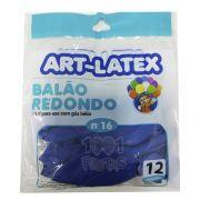 Balão Azul N16 12 unid Art Latex
