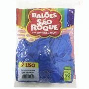 Balão Azul Turquesa N07 50 unid São Roque
