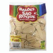 Balão Bege N09 50 unid. São Roque