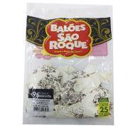 Balão Branco Arabesco Dourado N09 25 unid São Roque