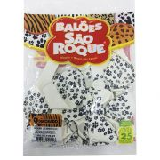 Balão Branco Fazendinha Pata de Cachorro N09 25 unid São Roque