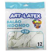 Balão Branco N16 12 unid Art Latex