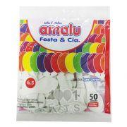 Balão Branco N6,5 50 unid Amalu
