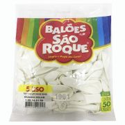 Balão Branco Polar N05 50 unid São Roque