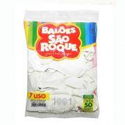 Balão Branco Polar N07 50 unid São Roque