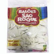 Balão Branco Polar N11 50 unid São Roque