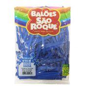 Balão Canudo Azul Turquesa 50 unid São Roque