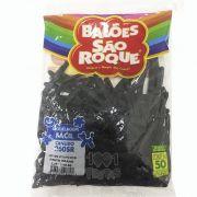 Balão Canudo Preto Ébano 50 unid São Roque