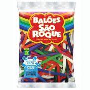 Balão Canudo Sortido 50 unid São Roque