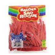 Balão Canudo Vermelho Quente 50 unid São Roque