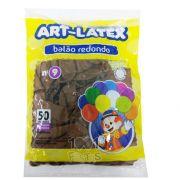 Balão Caramelo N09 50 unid Art Latex