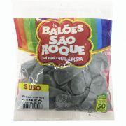 Balão Cinza N05 C/50 Unid. São Roque