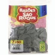 Balão Cinza N07 50 unid. São Roque