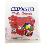 Balão Coração Vermelho N12 25 unid Art Latex