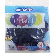 Balão Cristal Azul N09 24 unid Art Latex